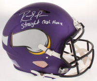 "Randy Moss Signed Minnesota Vikings Full-Size Authentic On-Field Speed Helmet Inscribed ""Straight Cash Homie"" (Beckett COA) at PristineAuction.com"