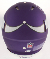 """Randy Moss Signed Minnesota Vikings Full-Size Authentic On-Field Speed Helmet Inscribed """"Straight Cash Homie"""" (Beckett COA) at PristineAuction.com"""