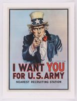 "Historical Photo Archive - ""Uncle Sam Wants You"" Limited Edition 16.5x22 Fine Art Giclee on Paper #/375 (PA LOA) at PristineAuction.com"