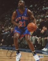 Charlie Ward Signed New York Knicks 8x10 Photo (Beckett COA) at PristineAuction.com
