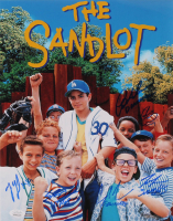 """""""The Sandlot"""" 11x14 Photo Cast-Signed by (6) With Tom Guiry, Marty York, Shane Obedzinski, Victor DiMattia, Chauncey Leopard & Brandon Adams with Character Inscriptions (JSA COA) at PristineAuction.com"""