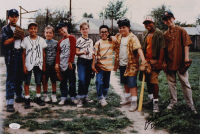 """The Sandlot"" 12x18 Photo Cast-Signed by (6) With Tom Guiry, Marty York, Shane Obedzinski, Victor DiMattia, Chauncey Leopard & Brandon Adams with Character Inscriptions (JSA COA) at PristineAuction.com"