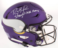 "Randy Moss Signed Minnesota Vikings Full-Size Authentic On-Field SpeedFlex Helmet Inscribed ""Straight Cash Homie"" (Beckett COA) at PristineAuction.com"