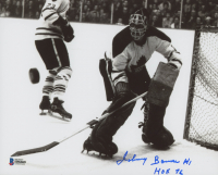 """Johnny Bower Signed Toronto Maple Leafs 8x10 Photo Inscribed """"HOF 76"""" (Beckett COA) at PristineAuction.com"""