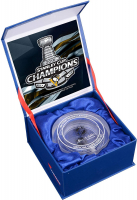 Pittsburgh Penguins 2016 Stanley Cup Champions Crystal Puck - Filled with Ice from the 2016 Stanley Cup Final (Fanatics COA) at PristineAuction.com