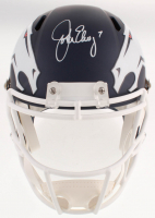 John Elway Signed Denver Broncos Full-Size AMP Alternate Speed Helmet (Beckett COA) at PristineAuction.com