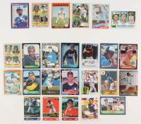Lot of (25) Rookie Baseball Cards with 1975 Topps #223 Robin Yount, 1982 Topps #21 Bob Bonner RC / Cal Ripken RC / Jeff Schneider RC, 1983 Topps #482 Tony Gwynn, 1985 Topps #536 Kirby Puckett, 1989 Donruss #33 Ken Griffey Jr. at PristineAuction.com
