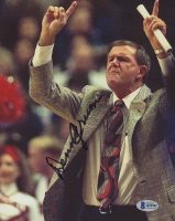Denny Crum Signed Louisville Cardinals 8x10 Photo (Beckett COA) at PristineAuction.com