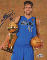 Dirk Nowitzki Signed Dallas Mavericks 8x10 Photo (Beckett COA) at PristineAuction.com