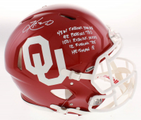 Kyler Murray Signed Oklahoma Sooners Full-Size Authentic On-Field Speed Helmet with (5) Career Stat Inscriptions (Beckett COA) at PristineAuction.com