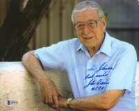"""John Wooden Signed 8x10 Photo Inscribed """"Best Wishes"""" & """"UCLA"""" (Beckett COA) at PristineAuction.com"""