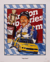 "Dale Earnhardt Sr. Signed ""Top Gun"" 23x28 Print (JSA COA) at PristineAuction.com"