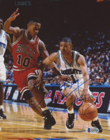 Muggsy Bogues Signed Charlotte Hornets 8x10 Photo (Beckett COA) at PristineAuction.com