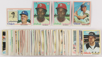 Lot of (130) 1978 Topps Baseball Cards with #170 Lou Brock, #173 Robin Yount, #189 Tom Lasorda at PristineAuction.com