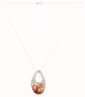 Sterling Silver Spiny Oyster Drop Pendant at PristineAuction.com