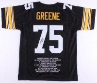 "Joe Greene Signed Career Highlight Stat Jersey Inscribed ""HOF 87"" (JSA COA) at PristineAuction.com"
