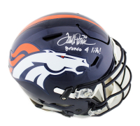 "Terrell Davis Signed Broncos Full-Size Authentic On-Field SpeedFlex Helmet Inscribed ""Bronco 4 Life"" (Radtke COA) at PristineAuction.com"