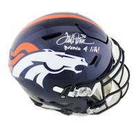 "Terrell Davis Signed Denver Broncos Full-Size Authentic On-Field SpeedFlex Helmet Inscribed ""Bronco 4 Life"" (Radtke COA) at PristineAuction.com"