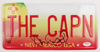 """Aaron Paul Signed Breaking Bad """"THE CAPN"""" License Plate Prop Replica (PSA COA) at PristineAuction.com"""