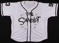 The Sandlot Jersey Cast-Signed by (6) with Tom Guiry, Chauncey Leopardi, Marty York, Victor Di Mattia with Character Inscriptions (JSA COA) at PristineAuction.com