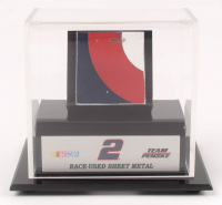 Brad Keselowski NASCAR Race-Used Sheet Metal Display (Fanatics COA) at PristineAuction.com