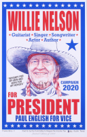 Willie Nelson Signed LE 14x22 Poster (Beckett COA) at PristineAuction.com