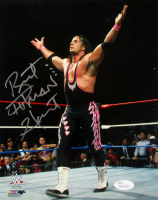 "Bret ""Hitman"" Hart Signed WWE 8x10 Photo (JSA COA) at PristineAuction.com"