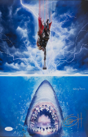 "Greg Horn Signed ""Thor vs Jaws "" 11x17 Lithograph (JSA COA) at PristineAuction.com"