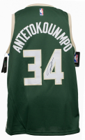 Giannis Antetokounmpo Signed Bucks Nike Swingman Jersey (JSA COA) at PristineAuction.com
