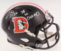 "Chris Harris Jr. Signed Denver Broncos Speed Mini Helmet Inscribed ""SB 50 Champs"" (Beckett COA) at PristineAuction.com"