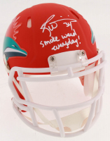 "Ricky Williams Signed Miami Dolphins Matte Orange Speed Mini Helmet Inscribed ""Smoke Weed Everyday"" (JSA COA) at PristineAuction.com"