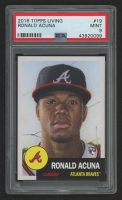 2018 Topps Living #19 Ronald Acuna (PSA 9) at PristineAuction.com