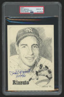 """Phil Rizzuto Signed New York Yankees 5x7 Print Inscribed """"HOF 94"""" (PSA Encapsulated) at PristineAuction.com"""