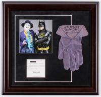 "Jack Nicholson Signed ""Batman"" 19.5x20.5 Custom Framed Screen-Worn Joker Glove Inscribed ""Ha! Ha! Ha! Ha! Ha!"" & ""Joker"" (PSA LOA) at PristineAuction.com"