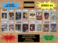 Icon Authentic 100x Series 44 Mystery Box (100+ Cards per Box) at PristineAuction.com