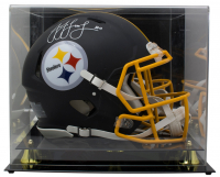 JuJu Smith-Schuster Signed Pittsburgh Steelers Matte Black Full-Size Authentic On-Field Speed Helmet with Acrylic Display Case (JSA COA) at PristineAuction.com
