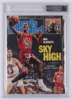 Michael Jordan Signed 1988 Sports Illustrated Magazine (BAS Encapsulated) at PristineAuction.com