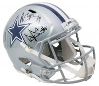 Dak Prescott & Amari Cooper Signed Dallas Cowboys Full-Size Speed Helmet (Beckett COA, JSA COA & Prescott Hologram) at PristineAuction.com