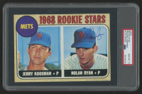 Nolan Ryan Signed 1993 Topps Magazine Jumbo Rookie Cards #4 1968 (PSA Encapsulated) at PristineAuction.com