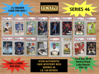 Icon Authentic 100x Series 46 Mystery Box (100+ Cards per Box) at PristineAuction.com