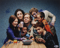 """""""Shameless"""" 11x14 Photo Cast-Signed by (6) with William H. Macy, Emmy Rossum, Jeremy Allen White, Cameron Monaghan (Beckett LOA) at PristineAuction.com"""