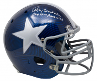"""Roger Staubach Signed Dallas Cowboys Full-Size Authentic On-Field Hydro-Dipped Helmet Inscribed """"Captain America"""" (Beckett COA) at PristineAuction.com"""