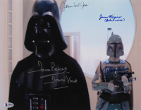 """Star Wars: The Empire Strikes Back"" 11x14 Photo Cast-Signed by (4) with David Prowse, James Earl Jones, Jeremy Bulloch & Jason Wingreen Inscribed ""Darth Vader"" & ""Boba's Voice"" (Beckett LOA) at PristineAuction.com"