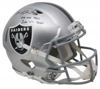 "Josh Jacobs Signed Oakland Raiders Full-Size Speed Helmet Inscribed ""Viva Las Vegas"" & ""Just Win Baby"" (Beckett COA & Jacobs Hologram) at PristineAuction.com"