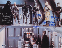 """Star Wars: The Empire Strikes Back"" 11x14 Photo Cast-Signed by (6) with David Prowse, James Earl Jones, Jeremy Bulloch, Jason Wingreen with Multiple Inscriptions (Beckett LOA) at PristineAuction.com"