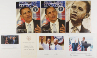 Lot of (7) Barack Obama 2009 Inuguration Items with (3) Inauguration Magazines, (3) Photos, & (1) Inauguration Invitation at PristineAuction.com