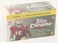 2009 Topps Chrome Football Box with (8) Packs at PristineAuction.com