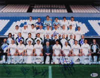 2005 Real Madrid 11x14 Photo Team-Signed by (9) with Thomas Gravesen, Javier Garcia, Jose Manuel Jurado, Emilio Butragueno (Beckett LOA) at PristineAuction.com