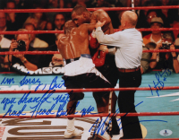 """Mike Tyson & Evander Holyfield Signed 11x14 Photo Inscribed """"I'm Sorry, But You Should Not Had Head Butt Me"""" (Beckett COA) at PristineAuction.com"""