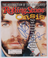 "Noel Gallagher & Liam Gallagher Signed 1996 Rolling Stone Magazine Inscribed ""Thanks"" (Beckett Hologram) at PristineAuction.com"